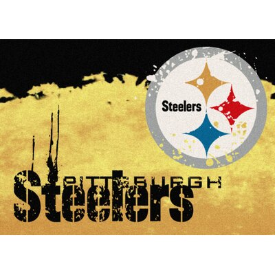 NFL Team Fade Novelty Rug NFL Team: Pittsburgh Steelers