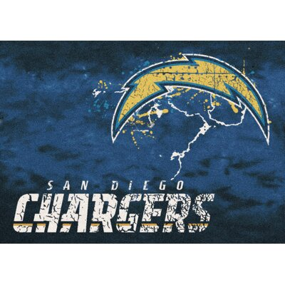 NFL Team Fade Novelty Rug NFL Team: San Diego Chargers