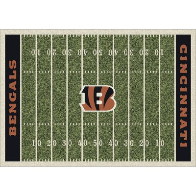 NFL Team Home Field Cincinnati Bengals Novelty Rug Rug Size: 54 x 78