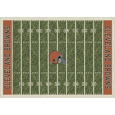 NFL Team Home Field Cleveland Browns Novelty Rug Rug Size: 109 x 132