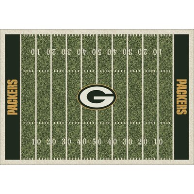 NFL Team Home Field Green Bay Packers Area Rug Rug Size: 78 x 109