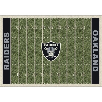 NFL Team Home Field Oakland Raiders Novelty Rug Rug Size: 109 x 132