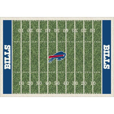 NFL Team Home Field Buffalo Bills Novelty Rug Rug Size: 109 x 132