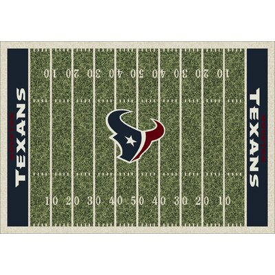 NFL Team Home Field Houston Texans Novelty Rug Rug Size: 109 x 132