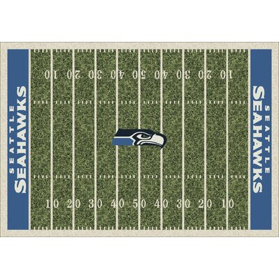 NFL Team Home Field Seattle Seahawks Novelty Rug Rug Size: 109 x 132