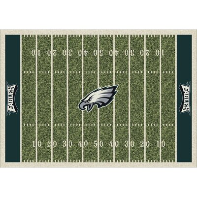 NFL Team Home Field Philadelphia Eagles Novelty Rug Rug Size: 109 x 132