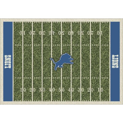 NFL Team Home Field Detroit Lions Novelty Rug Rug Size: 109 x 132