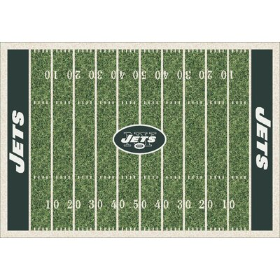 NFL Team Home Field New York Jets Novelty Rug Rug Size: 109 x 132