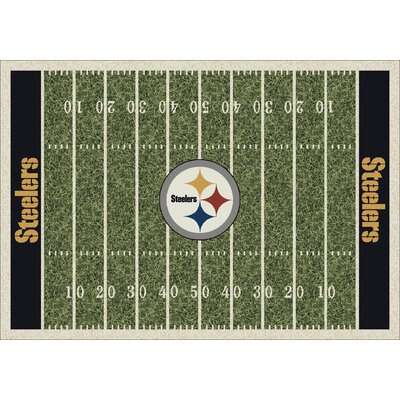 NFL Team Home Field Pittsburgh Steelers Novelty Rug Rug Size: 109 x 132