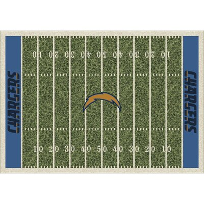 NFL Team Home Field San Diego Chargers Novelty Rug Rug Size: 54 x 78