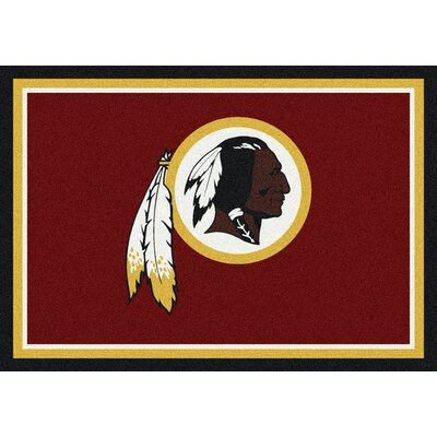 NFL Red Area Rug Rug Size: 54 x 78
