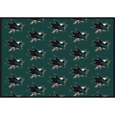 NHL San Jose Sharks 533322 2052 2xx Novelty Rug Rug Size: 109 x 132