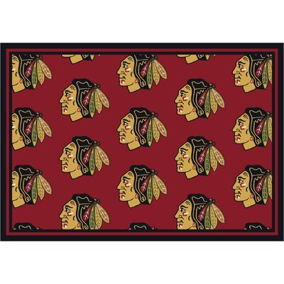 NHL Repeat Chicago Blackhawks Novelty Rug Rug Size: 310 x 54