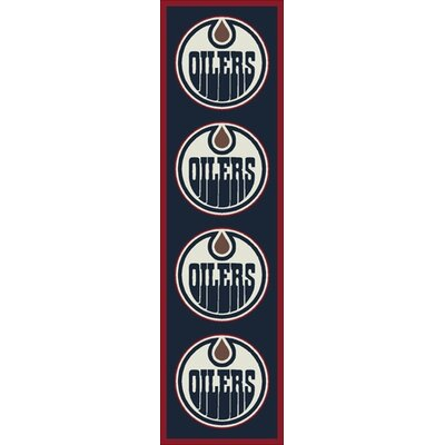 NHL Team Repeat Edmonton Oilers Novelty Rug Rug Size: Runner 21 x 78