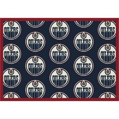 NHL Team Repeat Edmonton Oilers Novelty Rug Rug Size: 310 x 54
