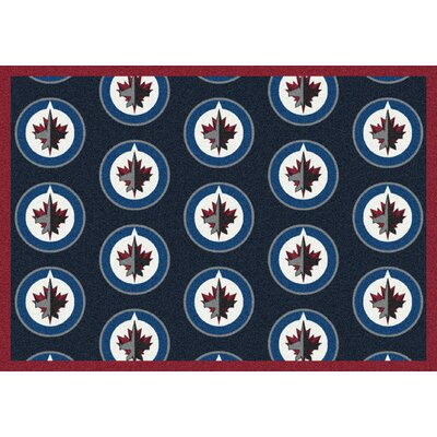 NHL Team Repeat Winnipeg Jets Novelty Rug Rug Size: 78 x 109