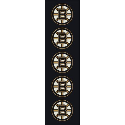 NHL Team Repeat Boston Bruins Novelty Rug Rug Size: Runner 21 x 78