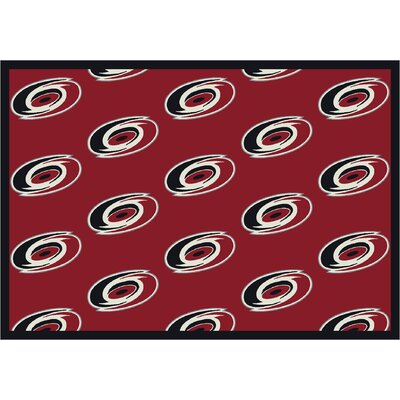 NHL Team Repeat Carolina Hurricanes Novelty Rug Rug Size: 310 x 54
