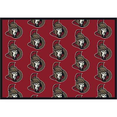 NHL Team Repeat Ottawa Senators Novelty Rug Rug Size: Runner 21 x 78
