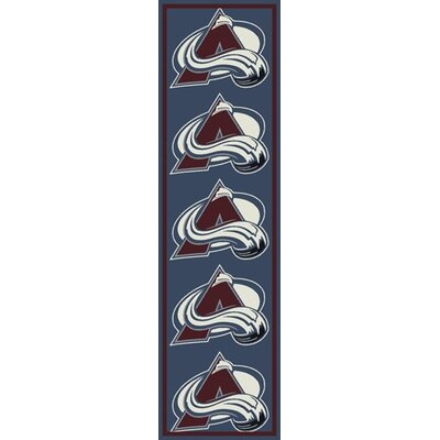 NHL Team Repeat Colorado Avalanche Novelty Rug Rug Size: Runner 21 x 78