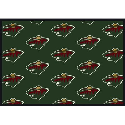 NHL Team Repeat Minnesota Wild Novelty Rug