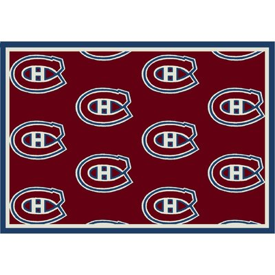 NHL Team Repeat Montreal Canadians Novelty Rug
