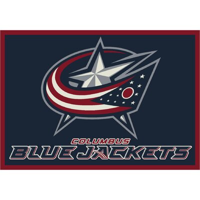 NHL Team Spirit Columbus Bluejackets Novelty Rug