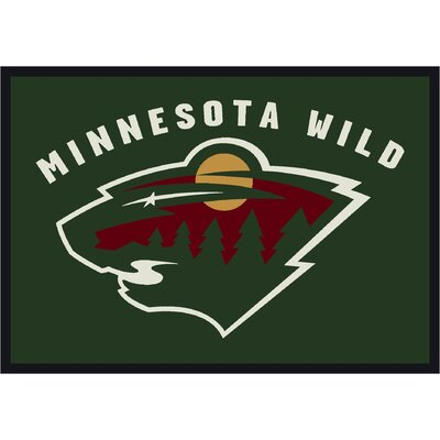 NHL Team Spirit Minnesota Wild Novelty Rug