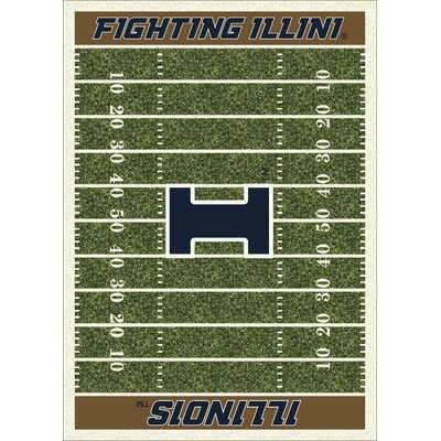 NCAA Home Field Illinois Novelty Rug Rug Size: 109 x 132