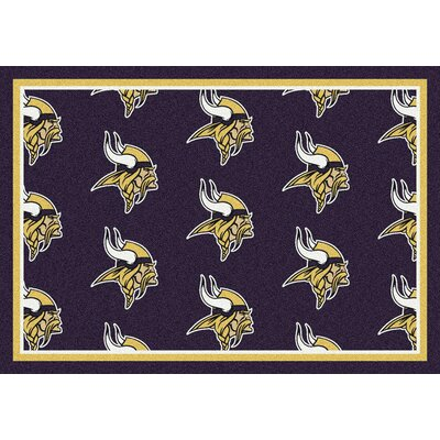 NFL Team Repeat Minnesota Vikings Football Indoor/Outdoor Area Rug Size: 109 x 132