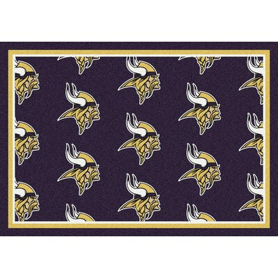 NFL Team Repeat Minnesota Vikings Football Indoor/Outdoor Area Rug Size: 54 x 78