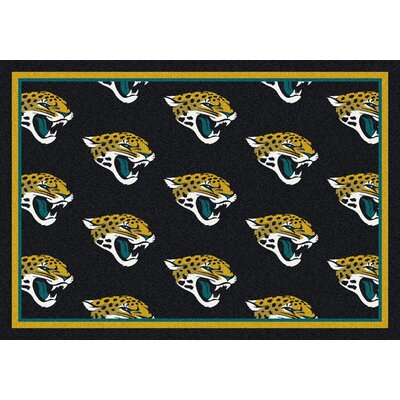 NFL Team Repeat Jacksonville Jaguars Football Indoor/Outdoor Area Rug Size: 109 x 132