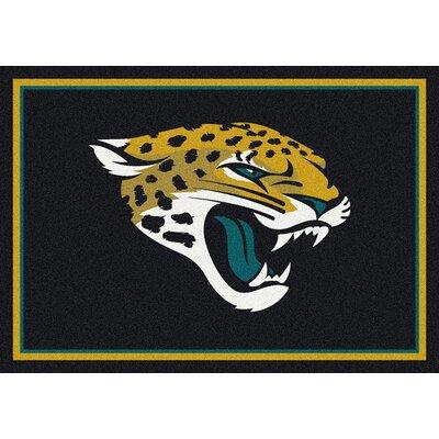 NFL Black Area Rug Rug Size: 28 x 310
