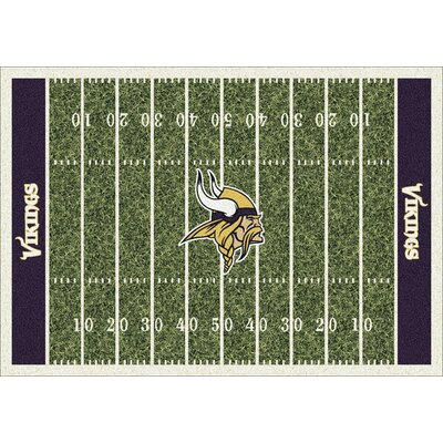 NFL Homefield Minnesota Vikings Football Indoor/Outdoor Area Rug Size: 109 x 132