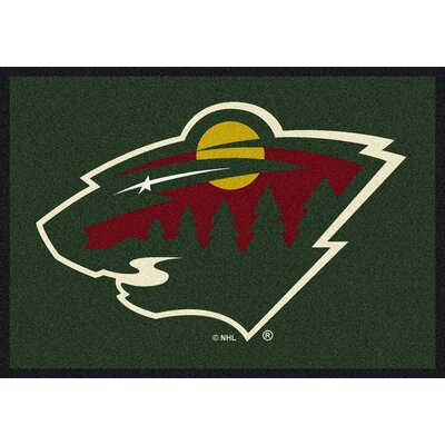 NHL Minnesota Wild 533322 1511 2xx Novelty Rug Rug Size: 54 x 78