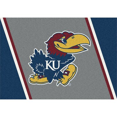 Collegiate University of Kansas Jayhawks Mat Rug Size: 28 x 310
