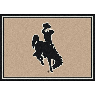 Collegiate University of Wyoming Cowboys Doormat Rug Size: 54 x 78