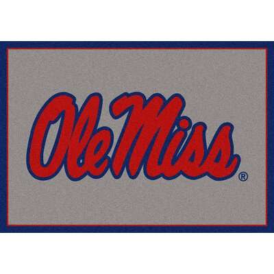 Collegiate University of Mississippi Rebels Doormat Mat Size: Rectangle 28 x 310