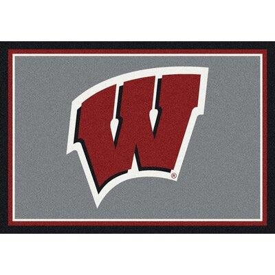 Collegiate University of Wisconsin Badgers Mat Rug Size: 28 x 310