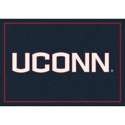 Collegiate University of Connecticut Huskies Mat Rug Size: 28 x 310