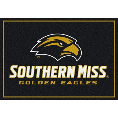 Collegiate Universtiy of Southern Mississippi Golden Eagles Mat Rug Size: 28 x 310