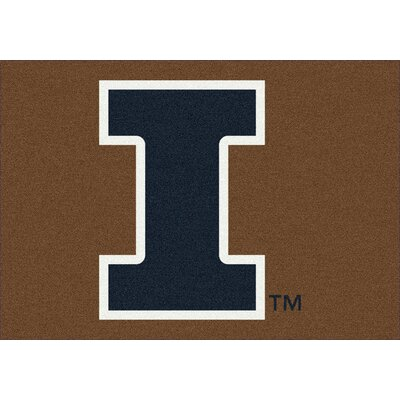 Collegiate University of Illinois Fighting Illini Doormat Mat Size: Rectangle 28 x 310