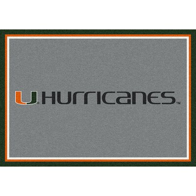 Collegiate University of Miami Hurricanes Doormat Mat Size: Rectangle 54 x 78