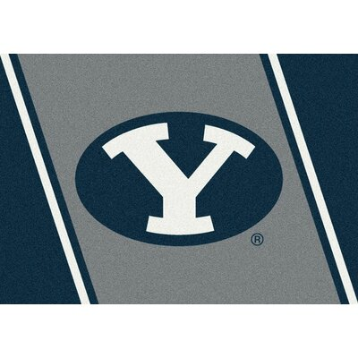 Collegiate Brigham Young University Cougars Mat Rug Size: 54 x 78