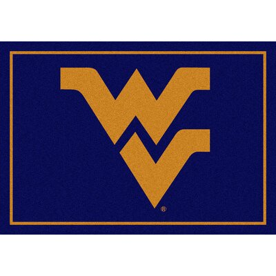 Collegiate West Virginia University Mountaineers Mat Rug Size: 5'4