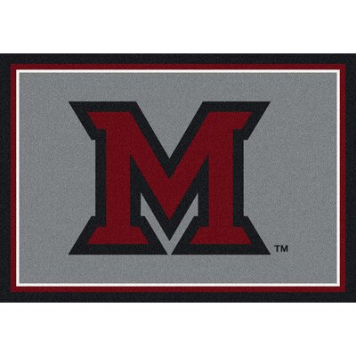 Collegiate Miami University of Ohio Redhawks Mat Rug Size: 28 x 310