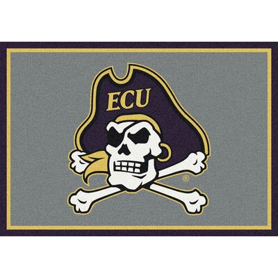 Collegiate East Carolina University Pirates Mat Rug Size: 54 x 78