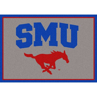 Collegiate Southern Methodist University Mustangs Mat Mat Size: Rectangle 54 x 78