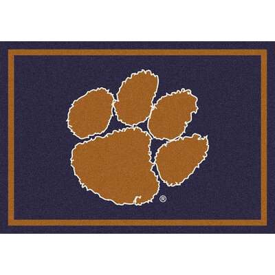 Collegiate Clemson University Tigers Mat Mat Size: Rectangle 54 x 78