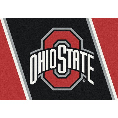 Collegiate Ohio State University Buckeyes Mat Mat Size: Rectangle 54 x 78